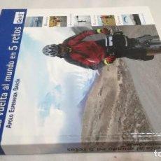 Coleccionismo deportivo: LA VUELTA AL MUNDO EN 5 RETOS/ APOLO ESPERANZA GARCIA/ GEO5 - CICLISMO CON CD. Lote 144404826