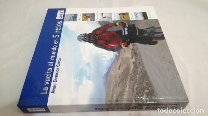 Coleccionismo deportivo: LA VUELTA AL MUNDO EN 5 RETOS/ APOLO ESPERANZA GARCIA/ GEO5 - CICLISMO CON CD - Foto 2 - 144404826