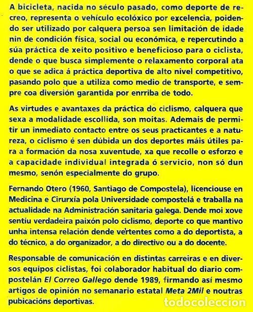 Coleccionismo deportivo: B1750 - INTRODUCCION AL CICLISMO. FERNANDO OTERO RAVIÑA. EN IDIOMA GALLEGO. XUNTA DE GALICIA. - Foto 7 - 145146450