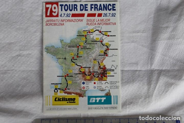 TRIPTICO TOUR DE FRANCIA 79 ED 1992 RECORRIDO,EQUIPOS CORREDORES Y DORSALES REVISTA CICLISMO A FONDO (Coleccionismo Deportivo - Libros de Ciclismo)