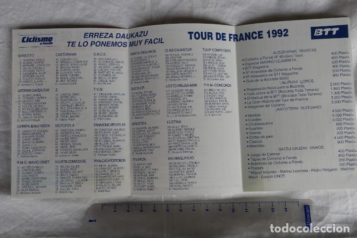 Coleccionismo deportivo: TRIPTICO TOUR DE FRANCIA 79 ED 1992 RECORRIDO,EQUIPOS CORREDORES Y DORSALES REVISTA CICLISMO A FONDO - Foto 2 - 148295286