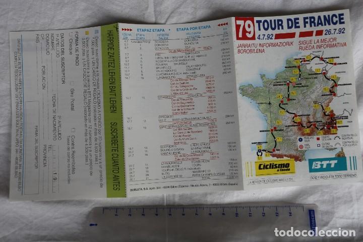 Coleccionismo deportivo: TRIPTICO TOUR DE FRANCIA 79 ED 1992 RECORRIDO,EQUIPOS CORREDORES Y DORSALES REVISTA CICLISMO A FONDO - Foto 3 - 148295286
