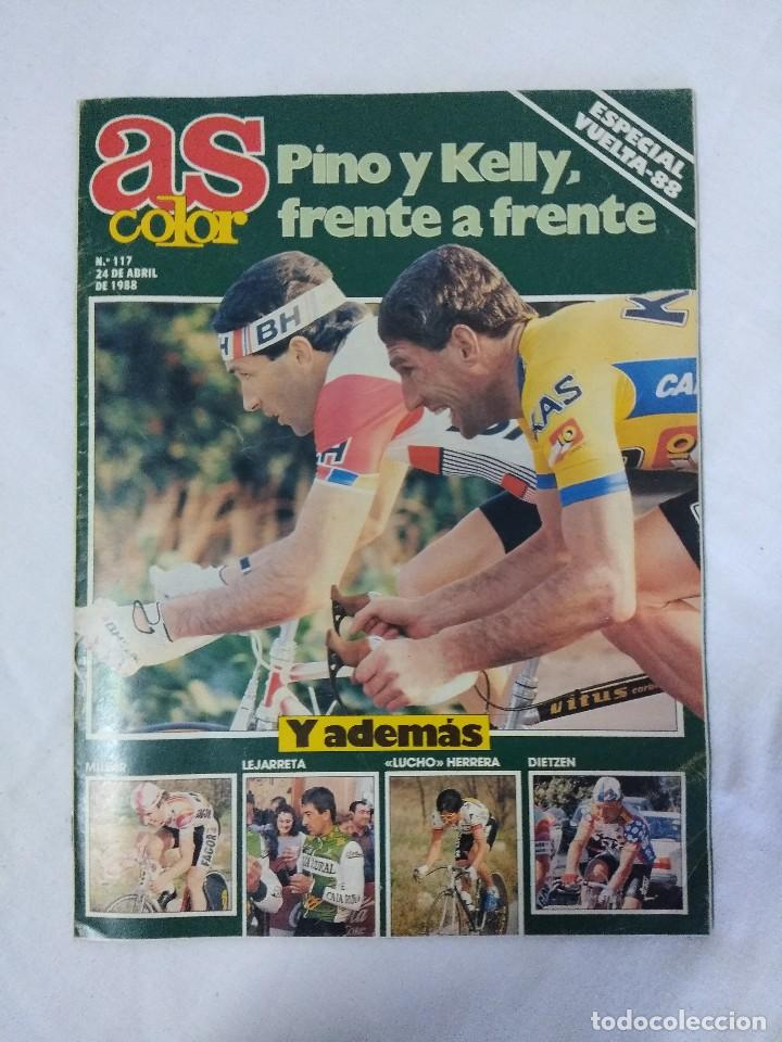 Coleccionismo deportivo: REVISTA AS COLOR CICLISMO/ESPECIAL VUELTA 88/POSTER ALVARO PINO EQUIPO BH. - Foto 2 - 151634342
