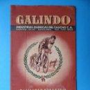 Coleccionismo deportivo: GALINDO, INDUSTRIAS QUIMICAS DEL CAUCHO, BARCELONA - PALMARES DEPORTIVO - CICLISMO - AÑO 1944. Lote 160087770