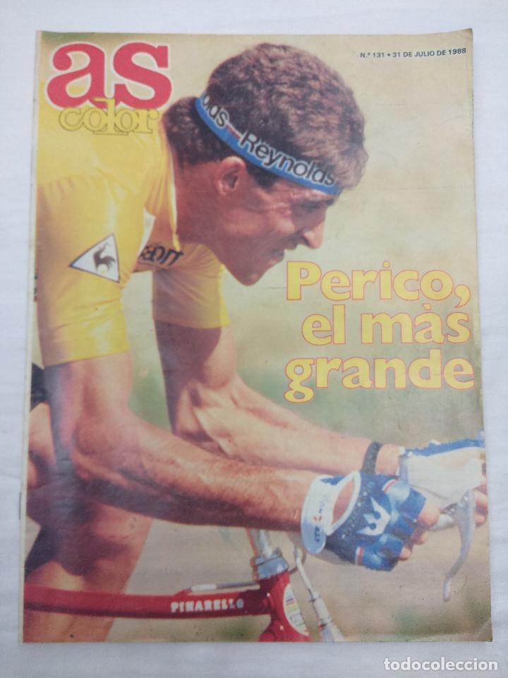 REVISTA CICLISMO AS COLOR Nº131/PERICO DELGADO/POSTER NBA. (Coleccionismo Deportivo - Libros de Ciclismo)
