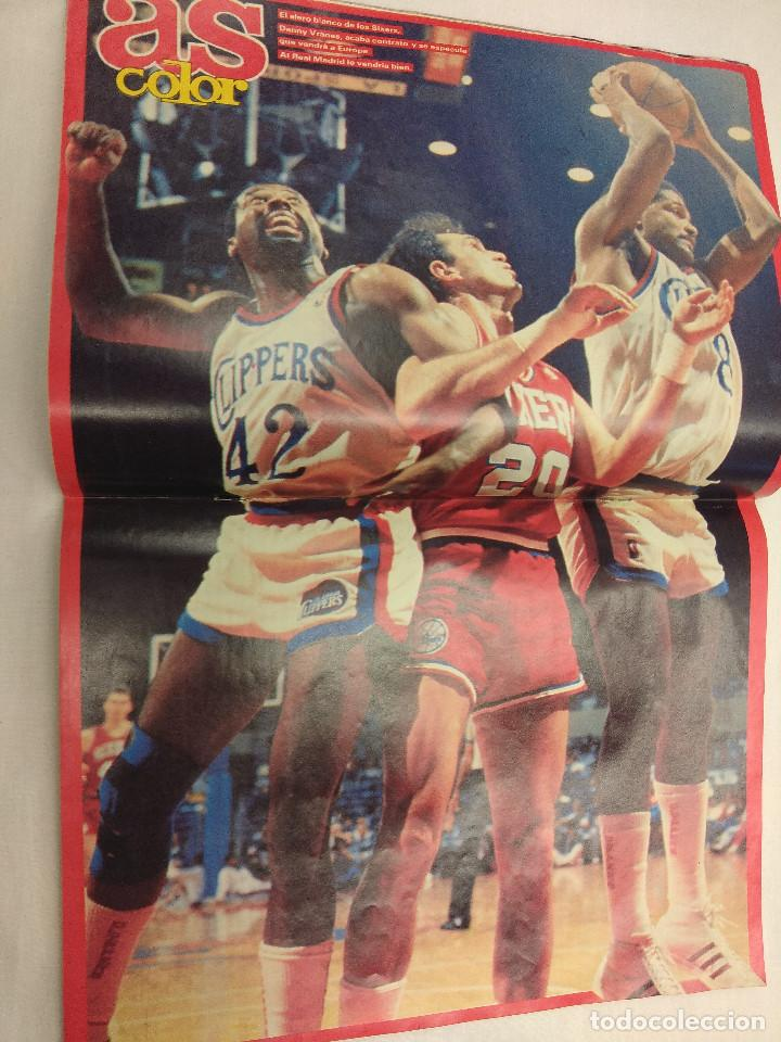 Coleccionismo deportivo: REVISTA CICLISMO AS COLOR Nº131/PERICO DELGADO/POSTER NBA. - Foto 2 - 160208922