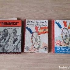 Coleccionismo deportivo: 3 LIBROS EL TOUR DE FRANCIA Y LA VUELTA CICLISTA A ESPAÑA 1956/1957/1958. Lote 160662442