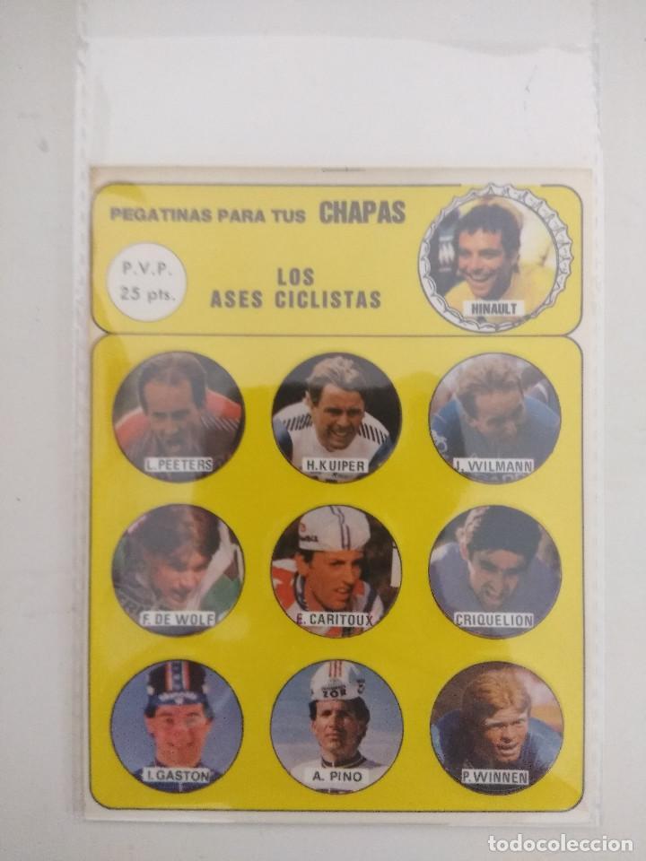 LOS ASES CICLISTAS/PEGATINAS PARA TUS CHAPAS/HINAULT/ALVARO PINO/CARITOUX. (Coleccionismo Deportivo - Libros de Ciclismo)