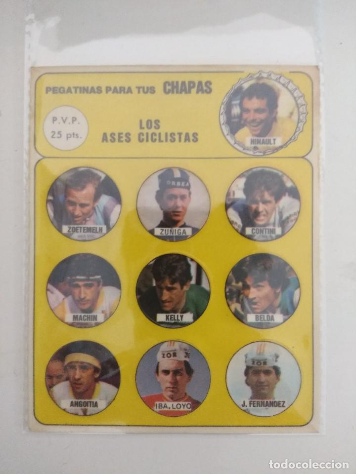 LOS ASES CICLISTAS/PEGATINAS PARA TUS CHAPAS/HINAULT/KELLY/BELDA/CONTI. (Coleccionismo Deportivo - Libros de Ciclismo)