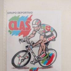 Coleccionismo deportivo: PEGATINA GRUPO DEPORTIVO CICLISTA CLAS/CENTRAL LECHERA ASTURIANA/NUEVA¡¡. Lote 162771490