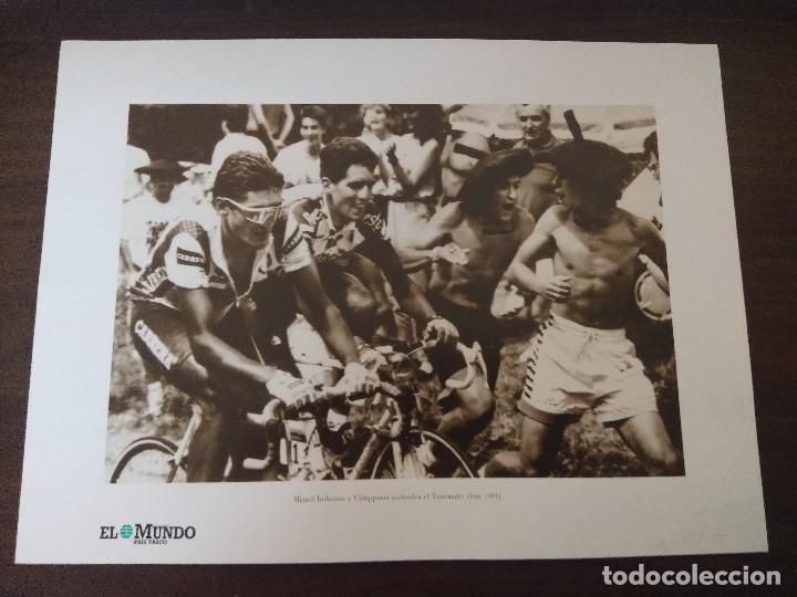 LAMINA CICLISMO/INDURAIN-CHIAPPUCCI/TOURMALET TOUR 1991. (Coleccionismo Deportivo - Libros de Ciclismo)