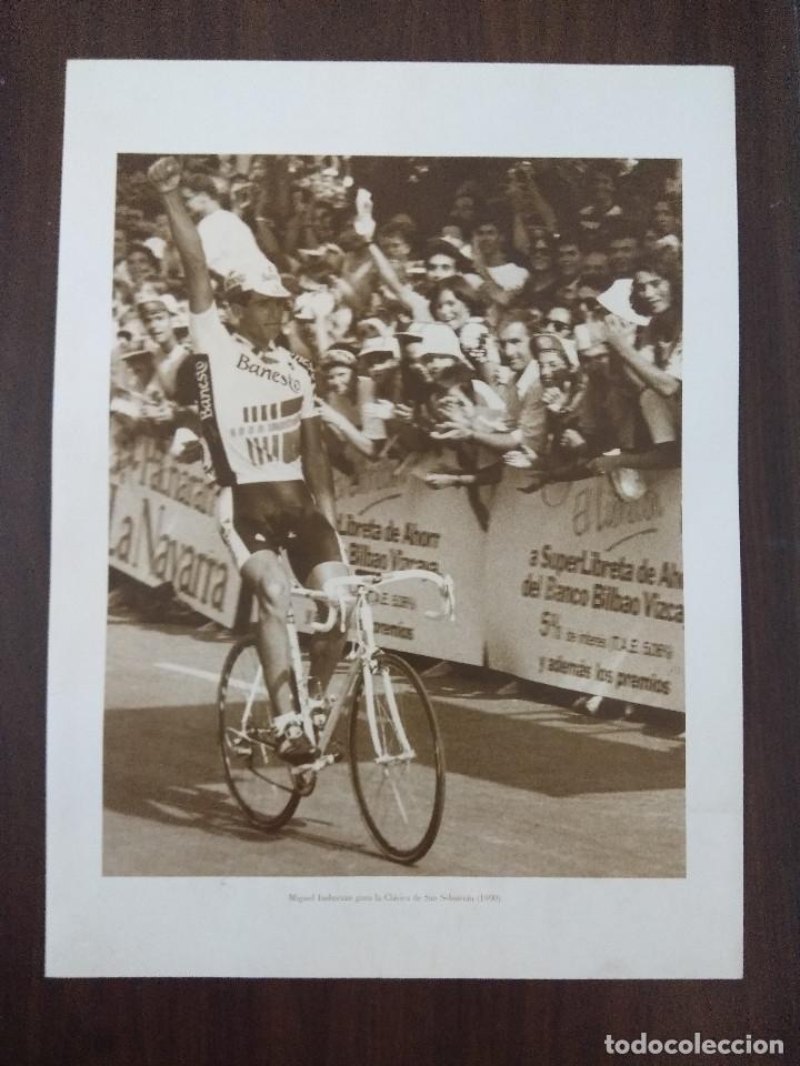 LAMINA CICLISMO/MIGUEL INDURAIN/CLASICA SAN SEBASTIAN 1990. (Coleccionismo Deportivo - Libros de Ciclismo)