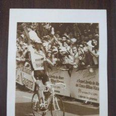 Coleccionismo deportivo: LAMINA CICLISMO/MIGUEL INDURAIN/CLASICA SAN SEBASTIAN 1990.. Lote 181446953