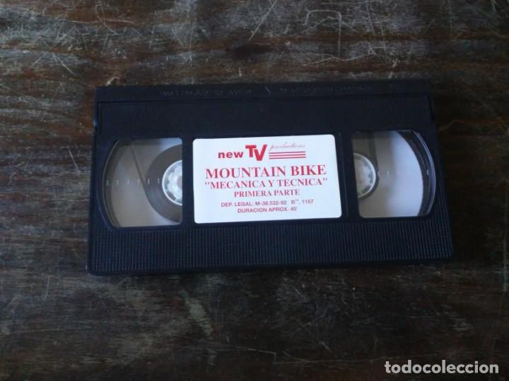 Coleccionismo deportivo: New TV Mountain Bike. Mecánica y Técnica. 2 VHS. Shimano. Specialized. Aquarius - Foto 6 - 163501158