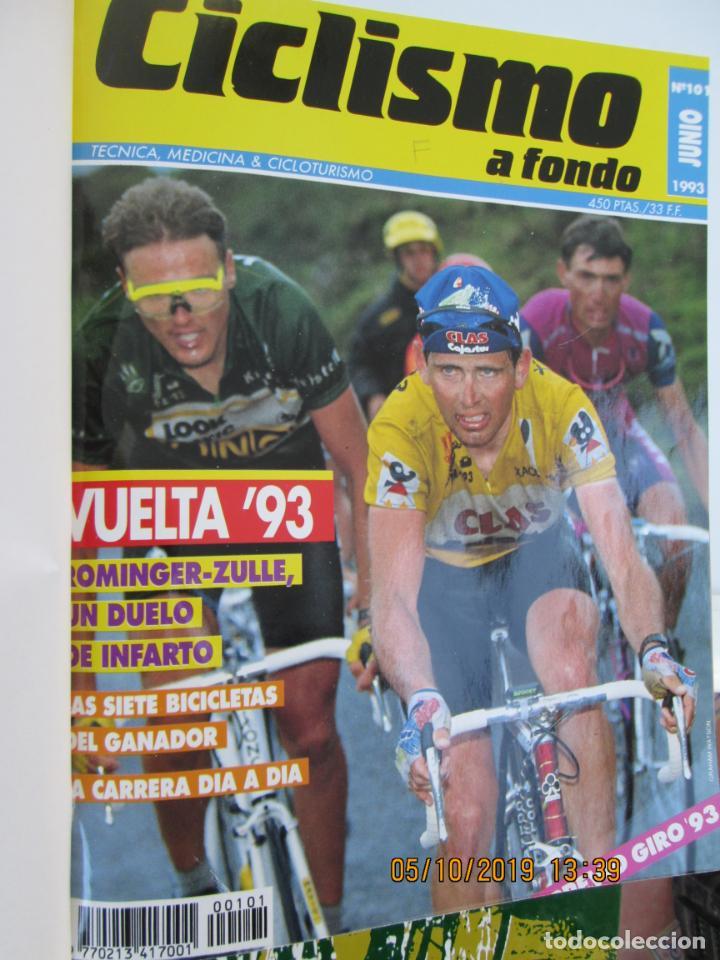 Coleccionismo deportivo: CICLISMO A FONDO , REVISTAS DESDE ABRIL 1990 Nº 54 A MARZO 1994 Nº 110 - 57 REVISTAS - Foto 2 - 163997494