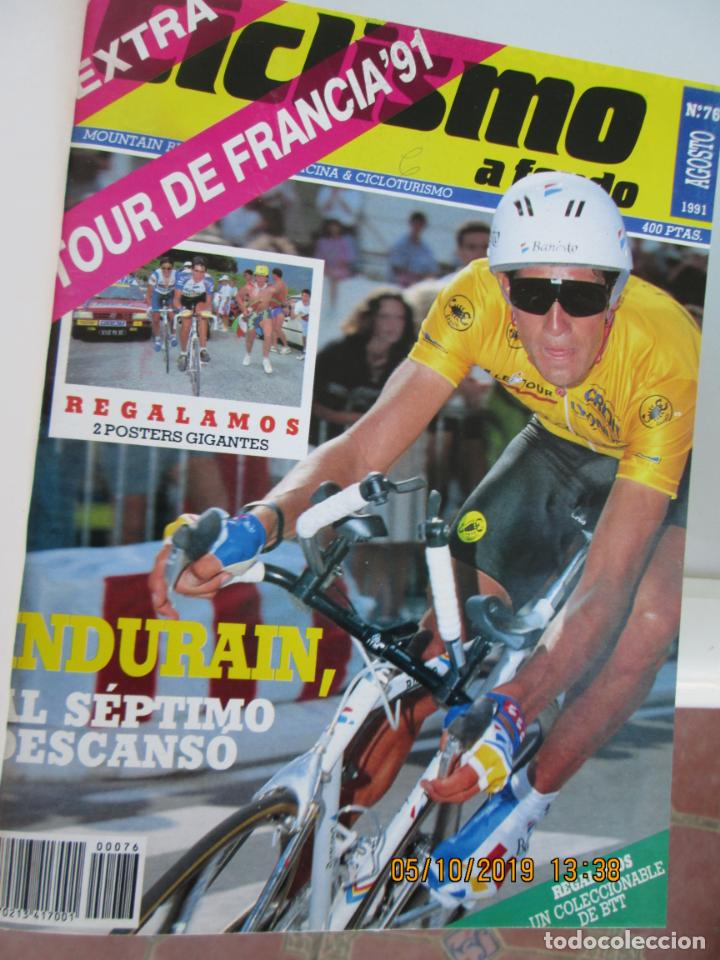 Coleccionismo deportivo: CICLISMO A FONDO , REVISTAS DESDE ABRIL 1990 Nº 54 A MARZO 1994 Nº 110 - 57 REVISTAS - Foto 4 - 163997494