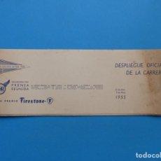 Coleccionismo deportivo: VUELTA CICLISTA A ESPAÑA 1955 - FIRESTONE, DESPLIEGUE OFICIAL DE LA CARRERA. Lote 165514146