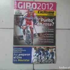 Coleccionismo deportivo: GUÍA GIRO DE ITALIA 2012. SUPLEMENTO NÚMERO 330 CICLISMO A FONDO. POSTER SCARPONI. Lote 168834404