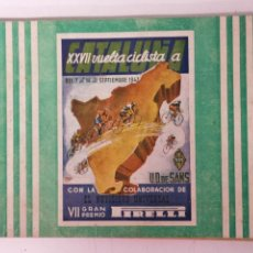 Coleccionismo deportivo: XXVII VUELTA CICLISTA A CATALUÑA, PROGAMA OFICIAL 1947. Lote 171533810