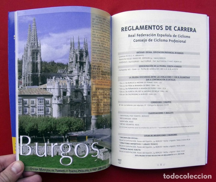 Coleccionismo deportivo: XXIV VUELTA A BURGOS. AÑO: 2002. BUEN ESTADO. CICLISMO. 90 PÁGINAS. - Foto 3 - 178134092