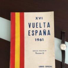Coleccionismo deportivo: VUELTA CICLISTA ESPAÑA 1961 EL LIBRO OFICIAL DEL COMISARIO MUY BUEN ESTADO. Lote 179087765