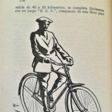 Coleccionismo deportivo: ANTIGUO LIBRO AÑOS 20, EL CICLISMO,EDICIONES SPORTS,BONITOS DIBUJOS BICICLETAS DE EPOCA,RARO. Lote 181209717