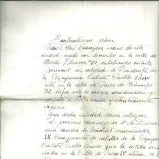 Coleccionismo deportivo: 1539.- POBLE NOU - AGRUPACION CICLISTA PUEBLO NUEVO - PERMISO GUBERNATIVO PARA CELEBRAR CARRERA . Lote 183267090
