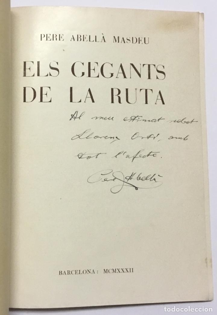 Coleccionismo deportivo: ELS GEGANTS DE LA RUTA. Abellà Masdeu, Pere. Barcelona, 1932. 39 pag. Ilustrado por Mestres. Fotos - Foto 2 - 186434630