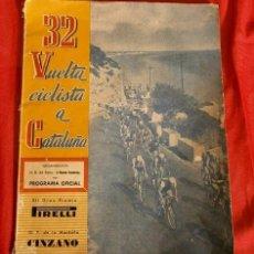 Colecionismo desportivo: 32 VUELTA CICLISTA A CATALUÑA (1952) PROGRAMA OFICIAL - VOLTA A CATALUNYA MIGUEL POBLET - PIRELLI. Lote 190757281