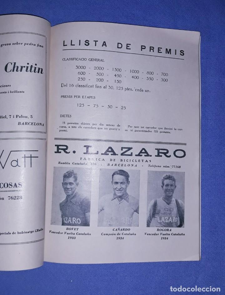Coleccionismo deportivo: PROGRAMA OFICIAL XVII VOLTA CICLISTA INTERNACIONAL A CATALUNYA PREMI GENERALITAT AÑO 1935 ORIGINAL - Foto 3 - 191028258
