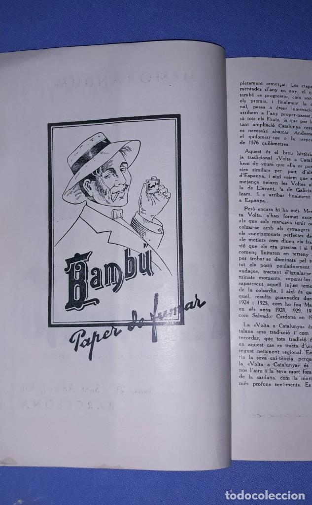 Coleccionismo deportivo: PROGRAMA OFICIAL XVII VOLTA CICLISTA INTERNACIONAL A CATALUNYA PREMI GENERALITAT AÑO 1935 ORIGINAL - Foto 4 - 191028258