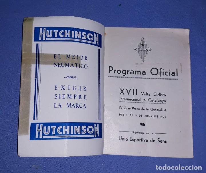 Coleccionismo deportivo: PROGRAMA OFICIAL XVII VOLTA CICLISTA INTERNACIONAL A CATALUNYA PREMI GENERALITAT AÑO 1935 ORIGINAL - Foto 5 - 191028258