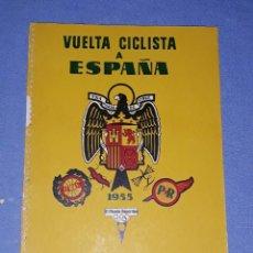 Coleccionismo deportivo: PROGRAMA OFICIAL VUELTA CICLISTA A ESPAÑA AÑO 1955 ORIGINAL PUBLICIDAD COCA COLA DERBI BISCUTER ETC. Lote 191028616