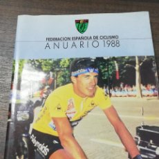 Coleccionismo deportivo: FEDERACION ESPAÑOLA DE CICLISMO. ANUARIO 1988. . Lote 191776912