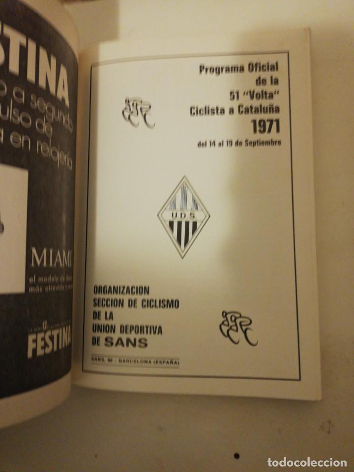 Coleccionismo deportivo: 51 VOLTA A CATALUÑA , PROGRAMA OFICIAL 14-19 SEPTIEMBRE 1971, - Foto 2 - 193772406