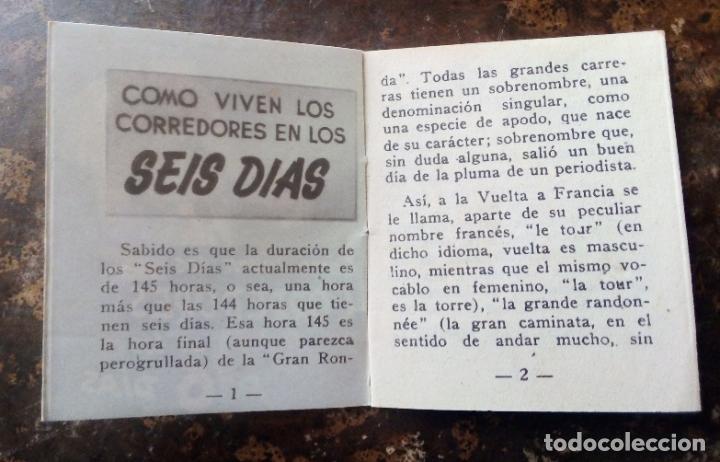 Coleccionismo deportivo: MINILIBRO EDITORIAL DEPORTIVA FHER Nº 32 - COMO VIVEN LOS CORREDORES EN LOS 6 DÍAS - AÑOS 50. - Foto 4 - 193837246