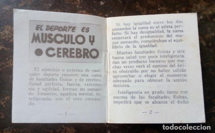 Coleccionismo deportivo: MINILIBRO EDITORIAL DEPORTIVA FHER Nº 50 - EL DEPORTE EL MÚSCULO Y EL CEREBRO - AÑOS 50. - Foto 4 - 193842298