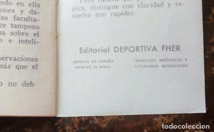 Coleccionismo deportivo: MINILIBRO EDITORIAL DEPORTIVA FHER Nº 50 - EL DEPORTE EL MÚSCULO Y EL CEREBRO - AÑOS 50. - Foto 6 - 193842298