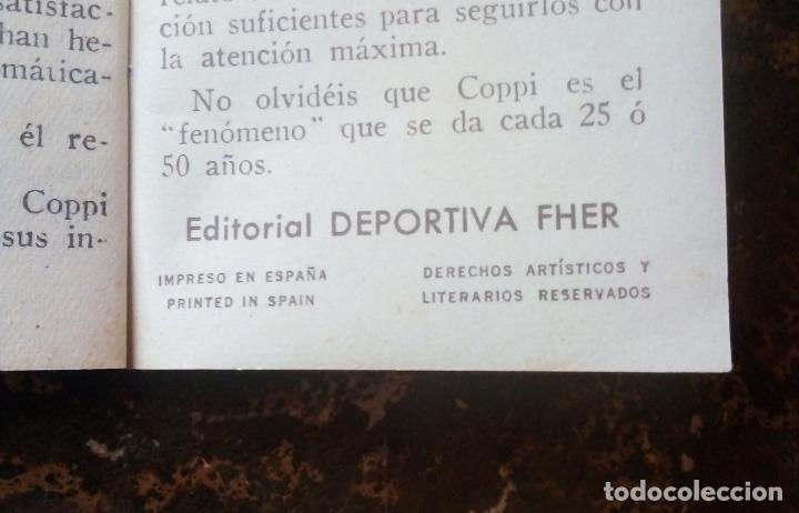 Coleccionismo deportivo: MINILIBRO EDITORIAL DEPORTIVA FHER Nº 49 - FAUSTO COPPI - AÑOS 50. - Foto 6 - 193843037