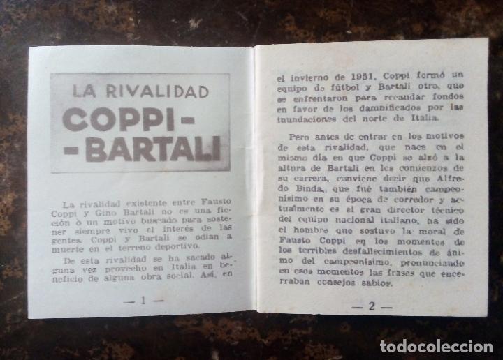 Coleccionismo deportivo: MINILIBRO EDITORIAL DEPORTIVA FHER Nº 18 - LA RIVALIDAD COPPI - BARTALI - AÑOS 50. - Foto 4 - 193845648