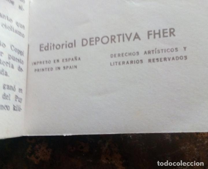 Coleccionismo deportivo: MINILIBRO EDITORIAL DEPORTIVA FHER Nº 18 - LA RIVALIDAD COPPI - BARTALI - AÑOS 50. - Foto 6 - 193845648