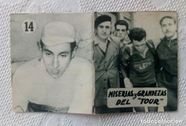 Coleccionismo deportivo: MINILIBRO EDITORIAL DEPORTIVA FHER Nº 14 - MISERIAS Y GRANDEZAS DEL TOUR - AÑOS 50. - Foto 3 - 193846557