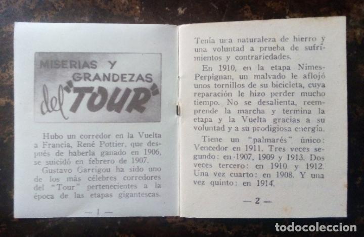 Coleccionismo deportivo: MINILIBRO EDITORIAL DEPORTIVA FHER Nº 14 - MISERIAS Y GRANDEZAS DEL TOUR - AÑOS 50. - Foto 4 - 193846557