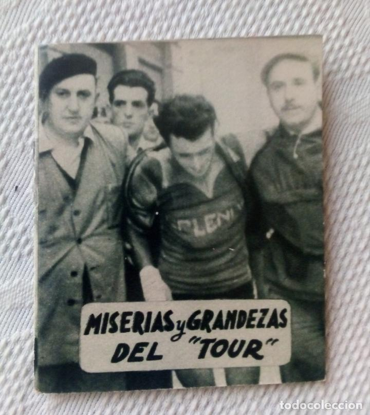 MINILIBRO EDITORIAL DEPORTIVA FHER Nº 14 - MISERIAS Y GRANDEZAS DEL TOUR - AÑOS 50. (Coleccionismo Deportivo - Libros de Ciclismo)