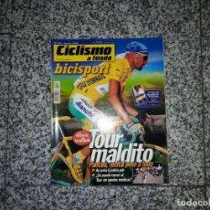 Colecionismo desportivo: CICLISMO A FONDO BICISPORT AGOSTO 98 Nº 165. EXTRA TOUR DE FRANCIA 98.. Lote 194405431