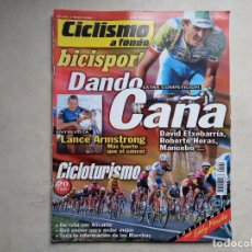 Coleccionismo deportivo: CICLISMO A FONDO BICISPORT ABRIL 98 Nº 161. ENTREVISTA LANCE ARMSTRONG. Lote 194557513