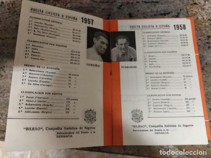 Coleccionismo deportivo: VUELTA CICLISTA A ESPAÑA 1959 / INTERIOR 1955-56-57-58 / LOROÑO-STABLISKI-DOTTO /SEGUROS BILBAO - Foto 2 - 196667053