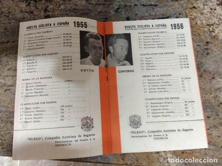 Coleccionismo deportivo: VUELTA CICLISTA A ESPAÑA 1959 / INTERIOR 1955-56-57-58 / LOROÑO-STABLISKI-DOTTO /SEGUROS BILBAO - Foto 3 - 196667053