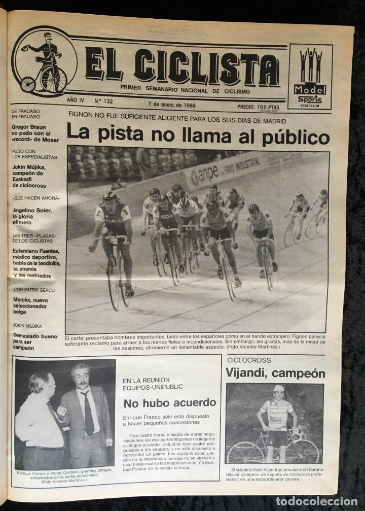 Coleccionismo deportivo: EL CICLISTA - PRIMER SEMANARIO NACIONAL DE CICLISMO - TOMO VI - 1986 - VUELTA ESPAÑA - ALVARO PINO - Foto 11 - 199791837