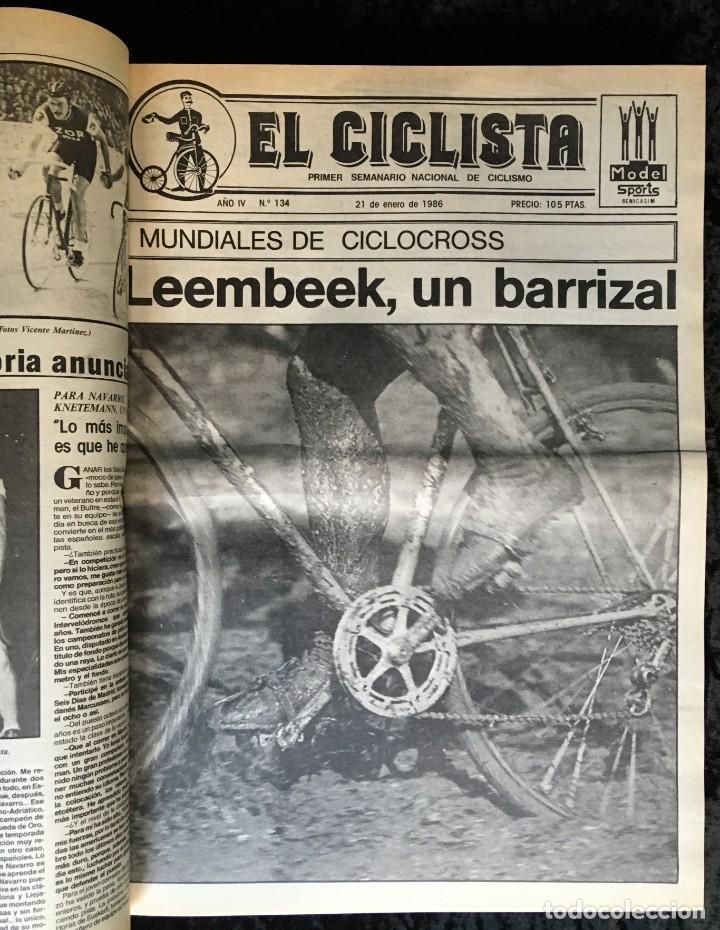 Coleccionismo deportivo: EL CICLISTA - PRIMER SEMANARIO NACIONAL DE CICLISMO - TOMO VI - 1986 - VUELTA ESPAÑA - ALVARO PINO - Foto 8 - 199791837